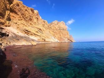 Ruta Tio Ximo Serra Gelada - Ruta Tio Ximo Serra Gelada - Acantilados de la Serra Gelada. Se observa la Illa Mitjana al fondo.
