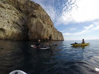 Ruta Granadella - Moraig - Ruta Granadella - Moraig - Reunión en el mar kayak y SUP