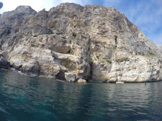 Ruta Granadella - Moraig - Ruta Granadella - Moraig - Acantilado de roca.