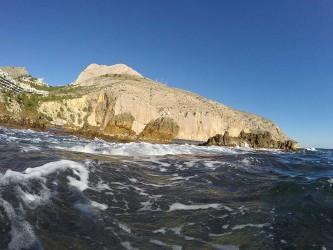 Punta del Mascarat - Punta del Mascarat - Vistas de la sierra de Toix practicando snorkel.