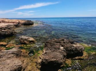 Cala del Palangre - Cala del Palangre - Zona rocosa a la parte norte de la cala, conecta con la Playa de los Locos.