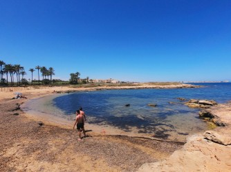 Cala Ferris - Cala Ferris - Panorámica de la playacan posidonia que indican la calidad de sus aguas.