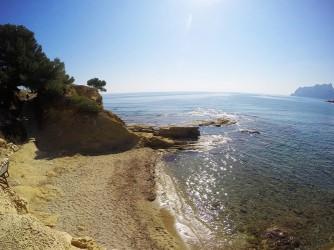 Cala dels Pinets - Cala dels Pinets - Pequeña cala de arena, con bajada de escaleras.