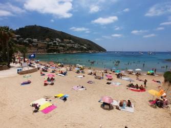 Playa del Portet - Playa del Portet - Vistas a pie de playa. Cap d'Or al fondo.