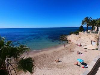 Playa de la Albufereta - Playa de la Albufereta - Zona más al oeste que termina e una zona rocosa. Ideal para hacer snorkel.