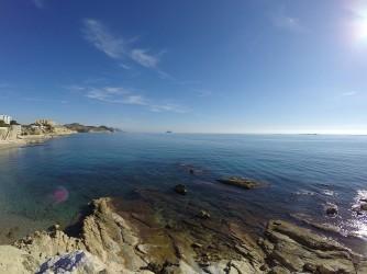 Cala Varadero - Cala Varadero - Zona rocosa de la cala, ideal per practicar snorkel.