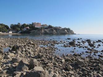 Playa del Amerador - Playa del Amerador - Zona norte, detalle de las rocas.