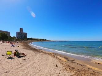 Playa de la Almadraba - Playa de la Almadraba - Vistas hacia el este, donde hay un espigón que protege de la corriente.