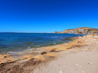 Playa de la Almadraba - Playa de la Almadraba - Zona central de plataforma de roca.