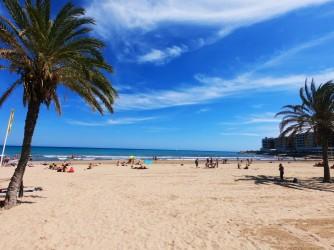 Playa del Postiguet - Playa del Postiguet - Playa muy ancha de arena dorada.