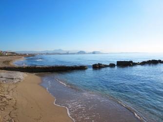 Playa canina Aigua Amarga - Playa canina Aigua Amarga - Rampa reservada como embarcadero.