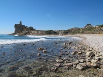 Playa del Charco - Playa del Charco - Vistas de la playa, zona sur mirando a la Torre Guaita siglo XVI