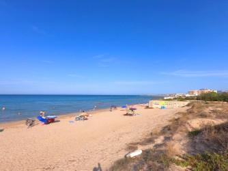 Playa de les Deveses - Playa de les Deveses - Zona de la playa con dunas en la parte posterior.