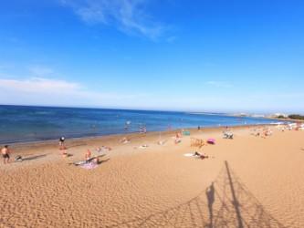 Playa de la Punta del Raset - Playa de la Punta del Raset - Panorámica hacia el sur.