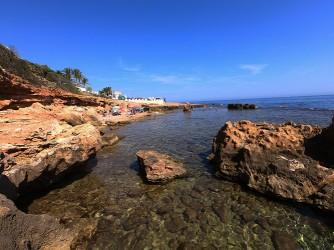 Cala Les Arenetes - Cala Les Arenetes - Zona de la plataforma de roca
